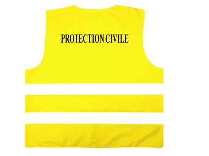 gilet de s curit sp cifique jaune fluo protection civile. Black Bedroom Furniture Sets. Home Design Ideas
